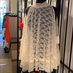 Free People Lace Poncho